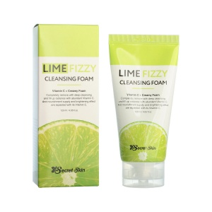 Пенка для умывания LIME FIZZY CLEANSING FOAM, Secret Skin
