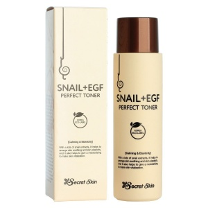 Тонер для лица с экстрактом улитки SNAIL+EGF PERFECT TONER, Secret Skin