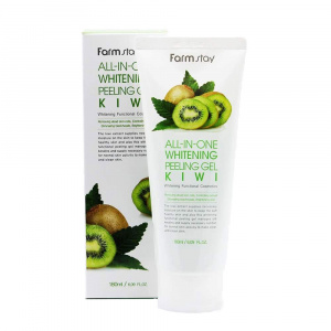 Гель-скатка с экстрактом киви ALL IN ONE WHITENING PEELING GEL CREAM, Farm Stay