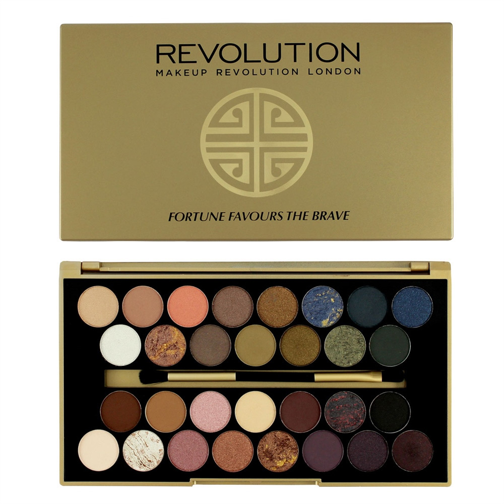 Палетка теней 30 Eyeshadow Palette, Fortune Favours The Brave, Makeup Revolution